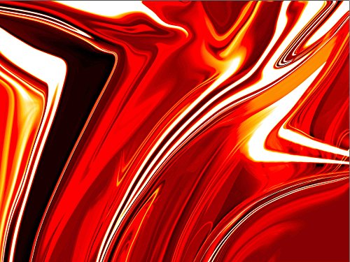 Sanbay Art Modern Giclee Canvas Prints Stretched Artwork Abstract Red Crystal Irregularity Pictures to Photo Paintings Wood Framed Inside Wall Art for Home Office Decorations Wall Decor 1pcs/set