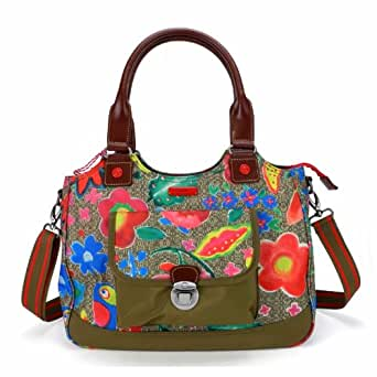 Oilily Funky Flowers M Carry All - Khaki