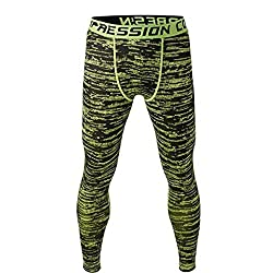 Imported Men Exercise Legging Running Tight Trousers Workout Sport Pants Green XL