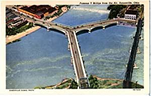 Photo reprint famous y bridge from the air for Outdoor furniture zanesville ohio