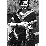 STOLE WITH MULTI-COLORED BORDER Vintage 1953 Crochet Shawl Pattern ~ Instant Download to KINDLE Wireless Ebook Reader or Kindle for PC! ~ Northern Lights Vintage