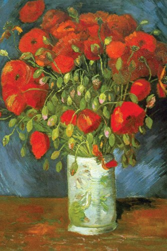 Walls 360 Peel & Stick Wall Decals: Red Poppies by Vincent Van Gogh (24 in x 36 in)