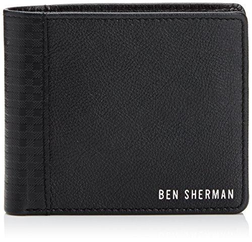 Ben Sherman Gingham Billfold,  Nero Black (Black Port)