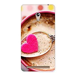 Stylish Pink Love Coffee Multicolor Back Case Cover for Zenfone 6