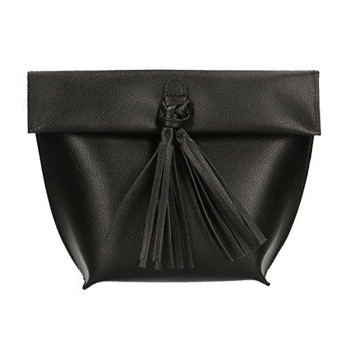 Chicca Borse borsetta a sacca da donna vera pelle made in italy borsa da sera 27x20x10 Cm