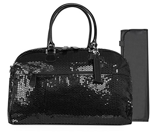 Trumpette Schleppbags Diaper Bag in Black Sequin, Large - 1