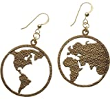 Peace on Earth Peace Bronze Earrings