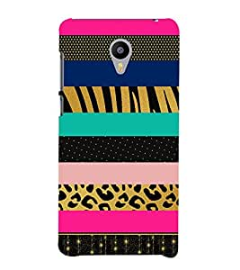 Dotted Lines Pattern Cute Fashion 3D Hard Polycarbonate Designer Back Case Cover for Meizu M3 Note
