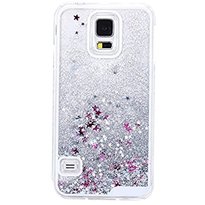 TOOPOOT For Samsung Galaxy S5 I9600 Glitter Paillette Quicksand Protective Shell