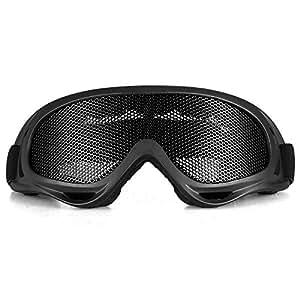 TOMOUNT Noir Lunettes Goggle Glasses Protection en Maille pour Airsoft CS Tactique