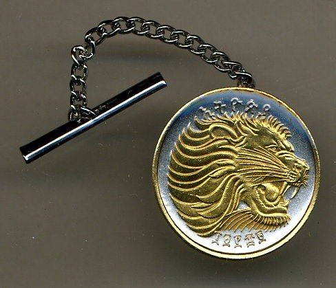 Gorgeous 2-Toned Gold on Silver World Coin Tie-Tack-123TT