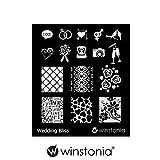 Winstonia Nail Art Stamping Image Plate Wedding Bliss