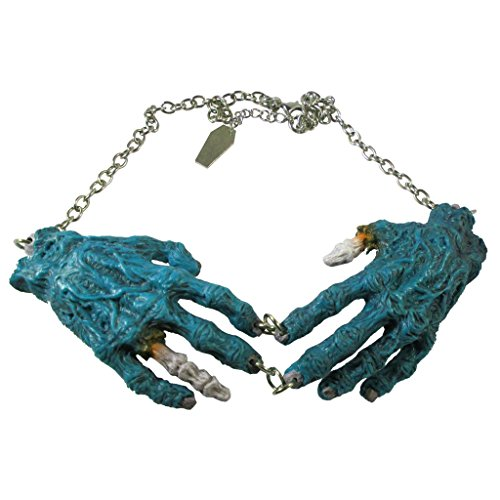Blue Zombie Hands Necklace