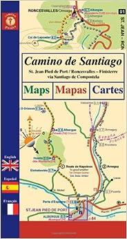 Camino de santiago maps st jean pied de port roncesvalles finisterre via santiago de - St jean pied de port to roncesvalles ...