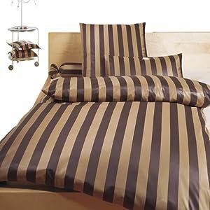 bauer mako brokat damast bettw sche braun beige 135x200 80x80. Black Bedroom Furniture Sets. Home Design Ideas