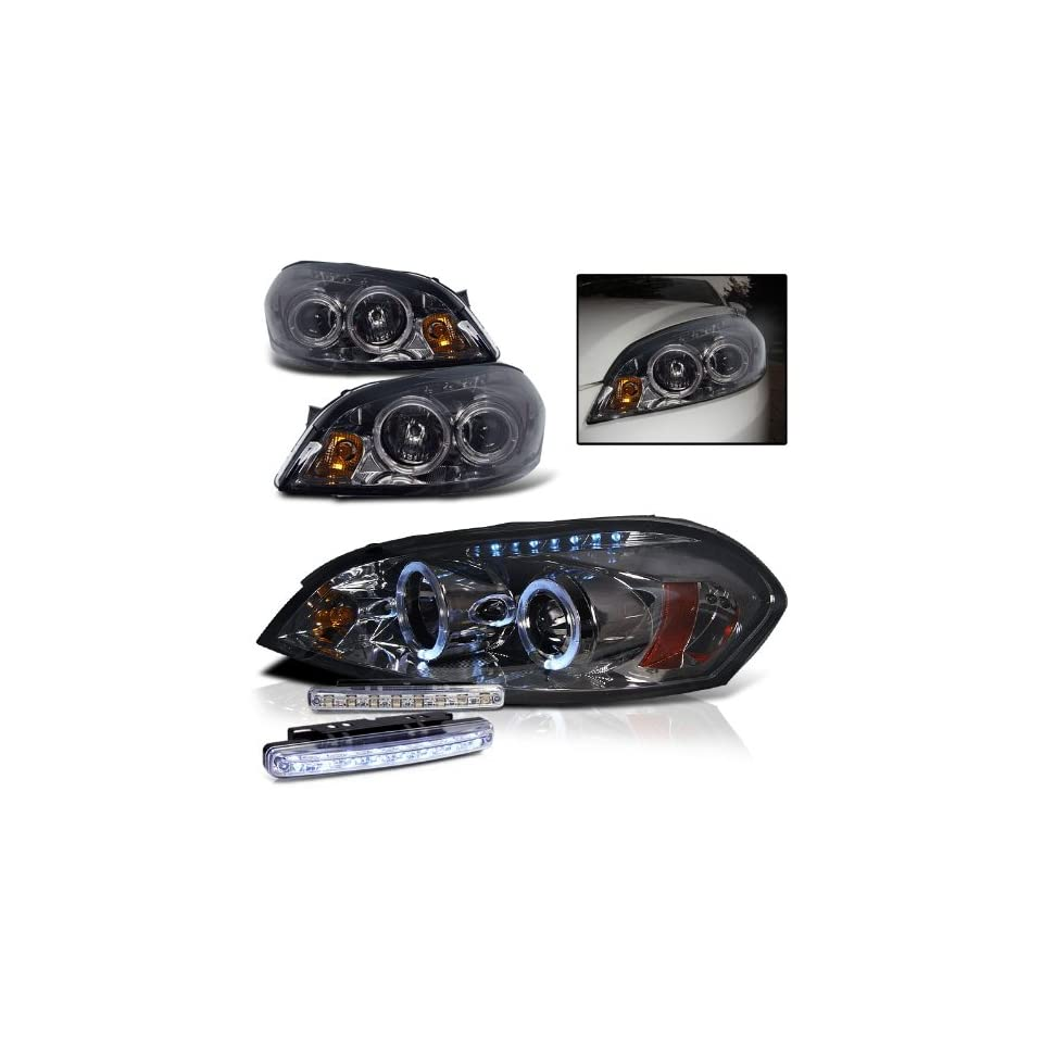 2007 CHEVY IMPALA DUAL HALO HEADLIGHTS PROJECTOR PAIR + 8 LED FOG BUMPER LAMPS