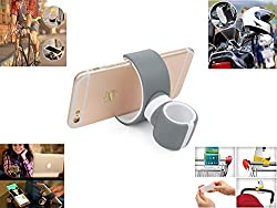 CreateGreat- All in One Multifunctional Phone Mount, Phone Holder, Car Mount, Bike / Motorcycle Mount, Air Vent Mount, Driver Mount, Headrest Mount,Desk Mount - One Mount for Everywhere - Gray