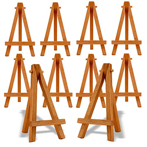 reeves-mini-easels-5-inch-natural-wood-pk-10