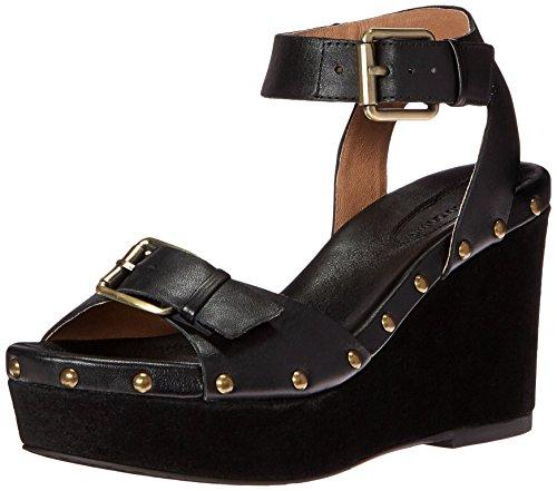 Corso Como Women's Deli Platform Sandal, Black Brushed Leather, 9.5 M US (Deli Shoes compare prices)