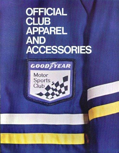 Goodyear Motor Sports Club Apparel Catalog 196?