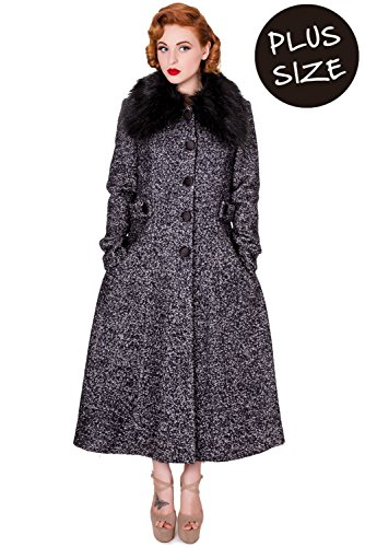 Banned Apparel -  Cappotto  - Impermeabile - Donna grigio XXXX-Large
