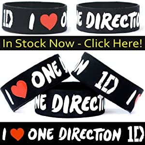 I Love One Direction Band One Inch Wristband