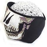 スカル柄マスク ドクロ スノボ バイク ライダー 冬用フェイスマスク 防寒対策 デザイン5種類 (タイプA)