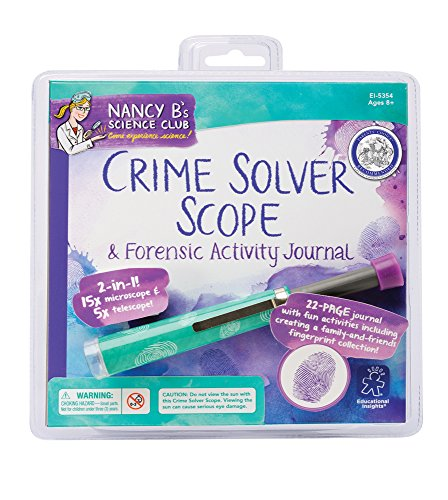 Educational Insights Nancy B's Science Club Crime Solver Scope and Forensic ActivIty Journal