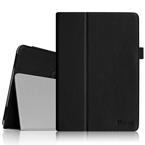 Fintie Apple iPad Air Folio Case - Slim Fit Leather Smart Cover with Auto Sleep / Wake Feature for iPad Air (iPad 5th Generation) 2013 Model, Black (Typing Pen compare prices)