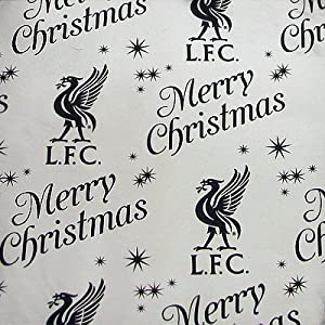 Official Liverpool FC Christmas Foil Gift Wrap - A Great Christmas Gift Accessory For Husbands, Fathers, Sons, Boyfriends, Friends and Any Avid Liverpool Football Club Fan Supporter by ONTRAD Limited