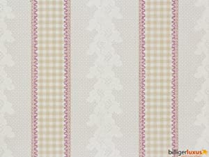 Vintage Diary 255019 Wallpaper Country Cottage Style Grey / Aubergine ...
