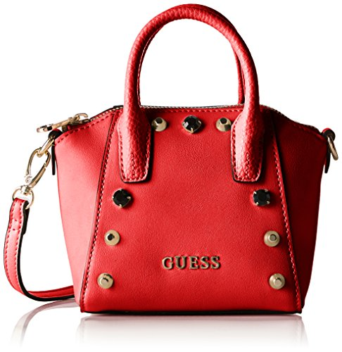 Guess Alanis Mini Satchel Borsa a Tracolla, Donna, Rosso (Red Multi)