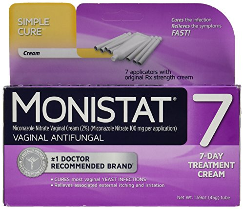 Monistat 7 Vaginal Antifungal Cream with Disposable Applicators, 1.59-Ounce Tube (Pack of 2)