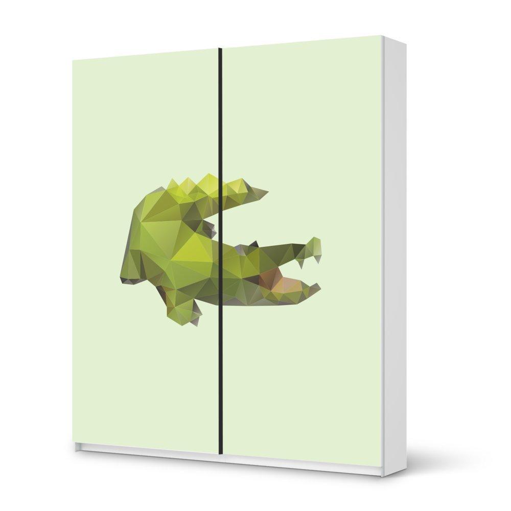 Folie IKEA Pax Schrank 236 cm Höhe – Schiebetür / Design Aufkleber Origami Crocodile / Dekorationselement online bestellen