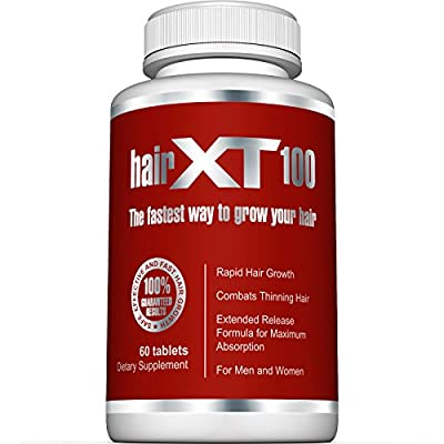 BEST Hair Vitamins For Hair Growth - HairXT100 Premium Hair Supplement Helps Grow, Thicken & Prevent Hair Loss - Includes Over 20 Essential Natural Hair Care Vitamins - 60 Tablets