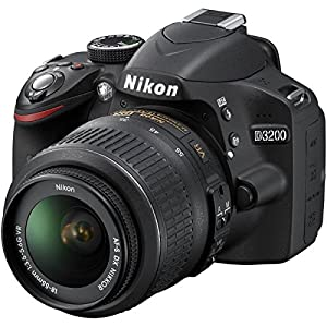 Nikon D3200 24.2 MP CMOS DSLR Camera w/ 18-55mm VR Lens (Black)(Certified Refurbished)
