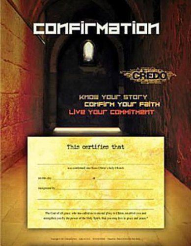 Credo Confirmation Certificate (Package of 6) PDF