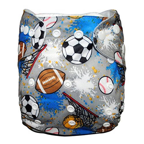 Besto Baby One Size Fit All Pocket Cloth Diaper Cover Reusable Washable Fit 6-33 Lbs 0N40 front-905943
