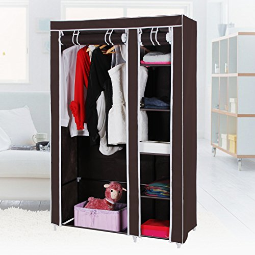 Songmics 43 Portable Clothes Closet Non Woven Fabric Wardrobe Storage Organizer Easy Home