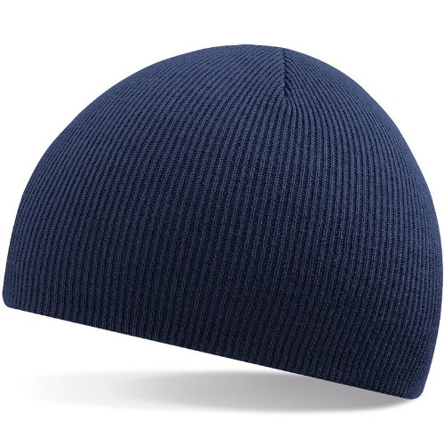 Beechfield Beanie Acrylic Knitted Hat (2870) one size,navy one size,Navy