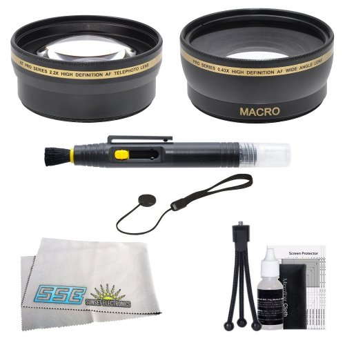 Sse 52Mm Wide Angle & Telephoto Lens Kit For Nikon (D5300 D5200 D5100 D3200 D3100 D3000 D40 D40X D60 D80 D7000 D7100 D600 D800 D800E) Digital Slr Cameras Which Have Any Of These (18-55Mm, 55-200Mm, 24Mm F/2.8D, 28Mm F/2.8D, 35Mm F/1.8G, 35Mm F/2.0D, 40Mm