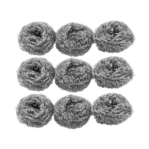 9-pcs-silver-tone-stainless-steel-wire-kitchen-pot-scrubber