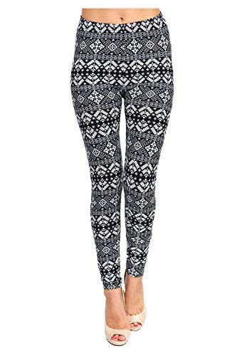 PLUS SIZE Seasonal Printed Leggings (Christmas Tree Abstract)