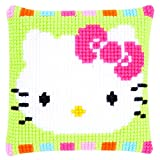 Vervaco Cross Stitch Cushion Hello Kitty in Pastel