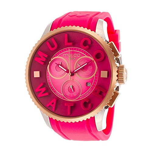 Mulco Men's & Women's 52mm Chronograph Pink Plastic Quartz Watch MW3-10302-083