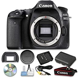 Canon EOS 80D Digital SLR Camera (Body Only) Wi-Fi Enabled - International Version