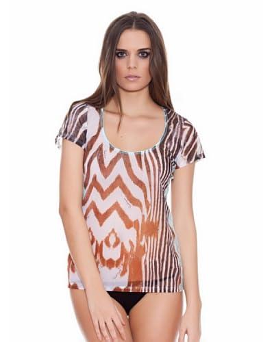 Roberto Cavalli Intimo Camiseta Zebra Blonda
