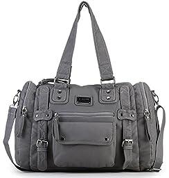 Scarleton Soft Barrel Shoulder Bag H148524 - Ash