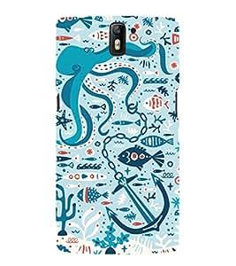 EPICCASE blue ocean Mobile Back Case Cover For OnePlus One (Designer Case)