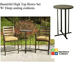 outdoor bistro set high top table chairs